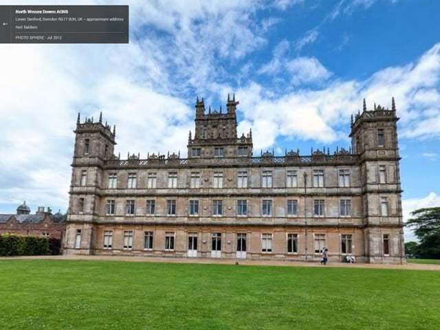 google offers emmy themed street view tour famous tv locations downton