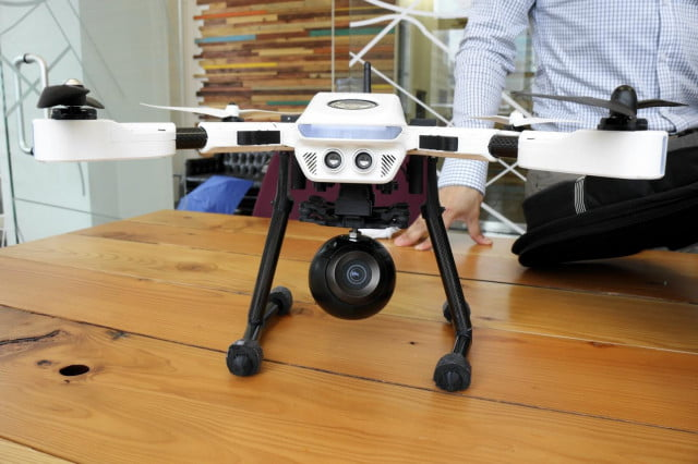 The PlexiDrone with a Bublcam 360-degree camera in its payload.