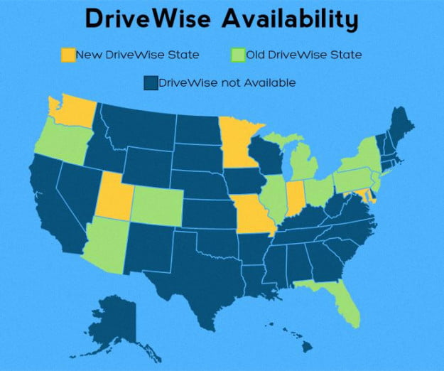 drivewise-availibility- Photo Credit  - Online Auto Insurance News