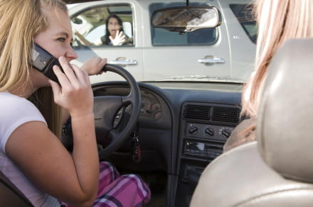 driving while using phone