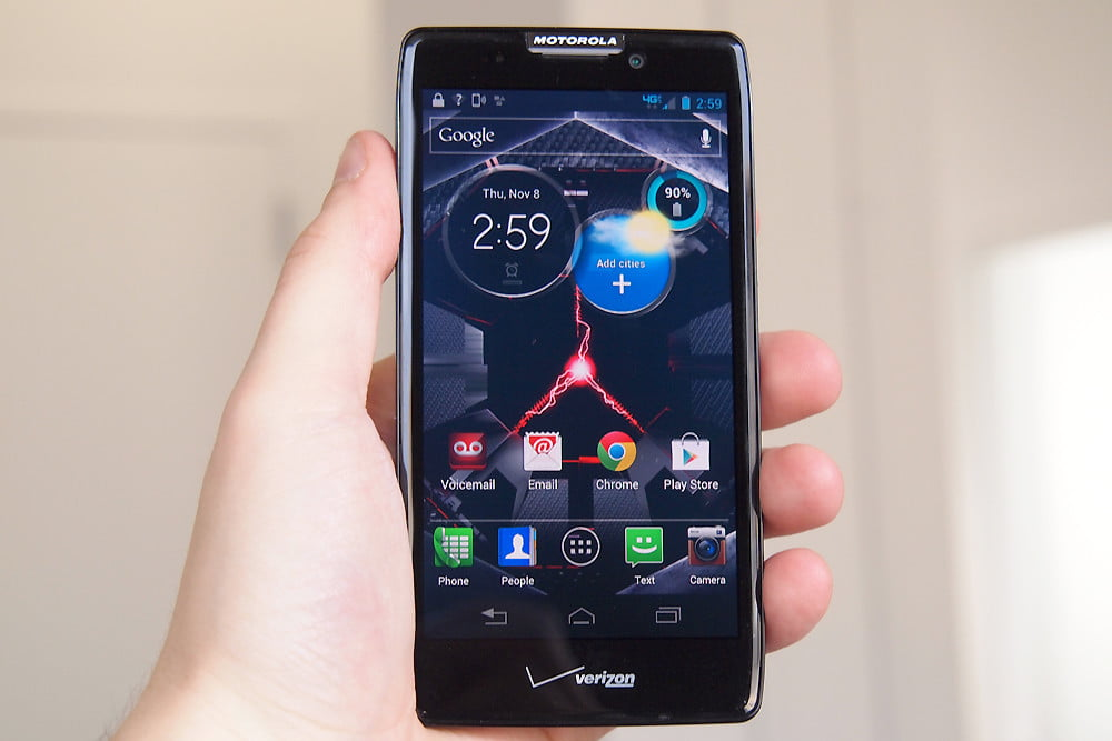 Droid RAZR MAXX HD review screen motorola android smartphone