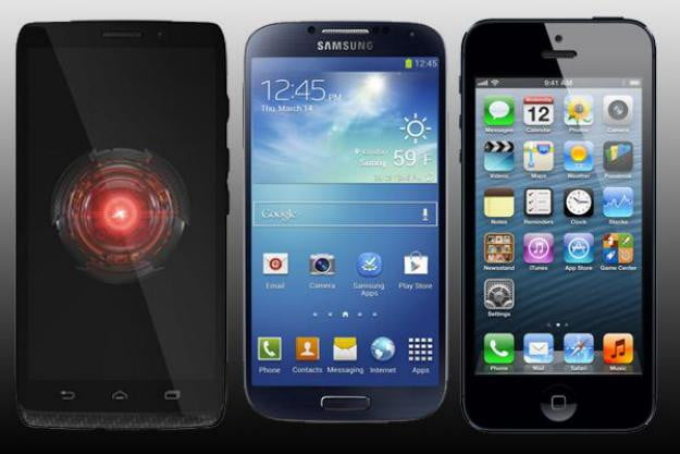 Droid Ultra vs Galaxy S4 vs iPhone 5