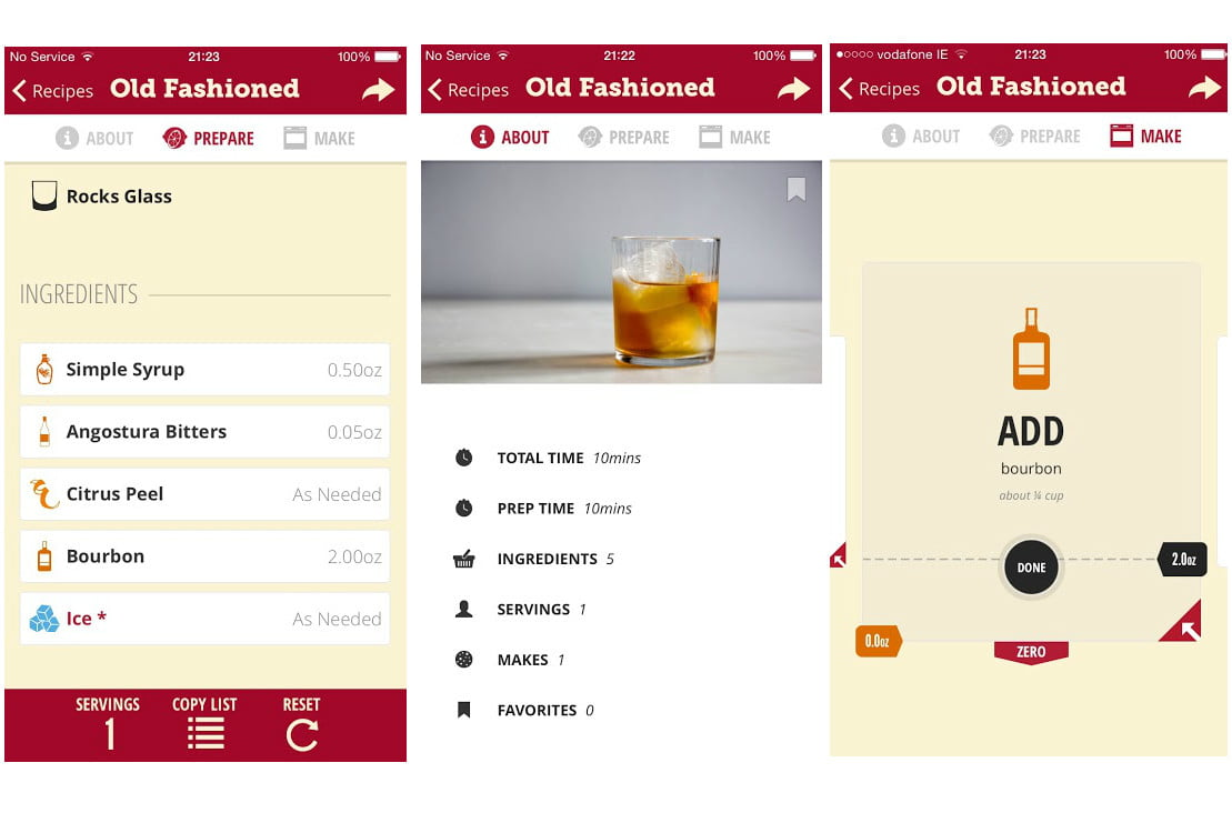 Drop kitchen scale adds iphone app and cocktail recipes for Cocktail app and scales