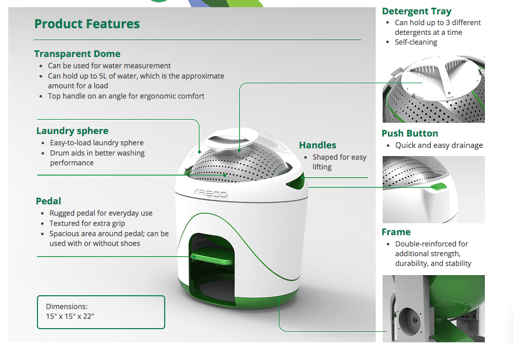 foot powered washing machine