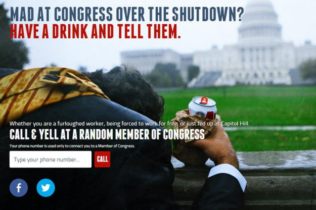 drunk dial congress - phone field