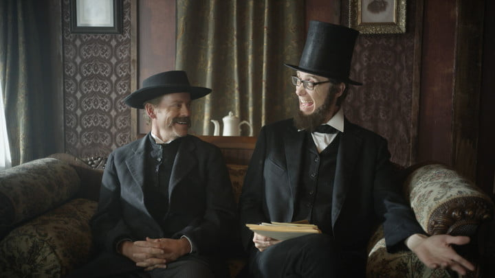 drunk history creator derek waters interview new jersey s greg kinnear as thaddeus lowe stephen merchant president lincoln