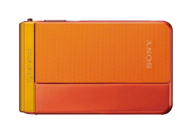 sony unveils new cyber shot point and shoot cameras  dsc tx orange front close jpg