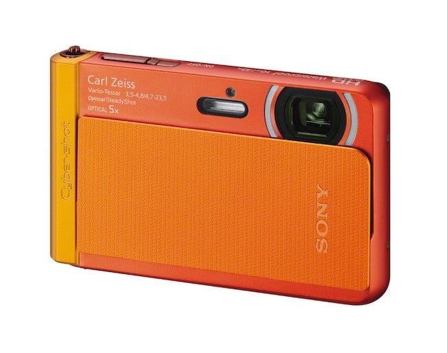 sony unveils new cyber shot point and shoot cameras  dsc tx orange right jpg