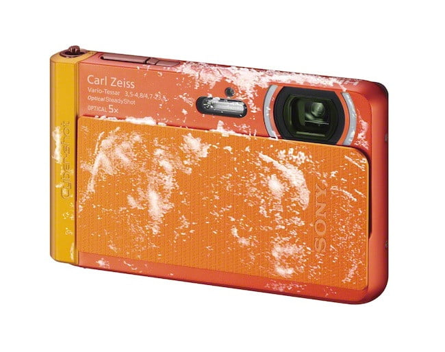 sony unveils new cyber shot point and shoot cameras  dsc tx right freezeproof orange jpg