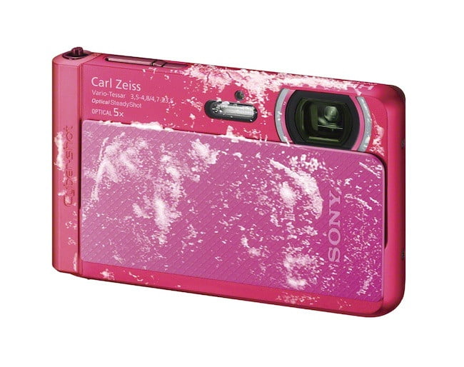 sony unveils new cyber shot point and shoot cameras  dsc tx right freezeproof pink jpg