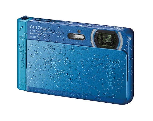 sony unveils new cyber shot point and shoot cameras  dsc tx right waterproof blue jpg