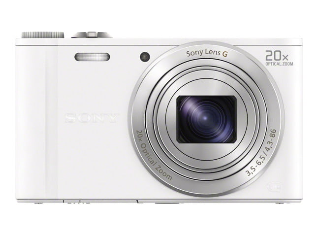 sony unveils new cyber shot point and shoot cameras  dsc wx white front jpg