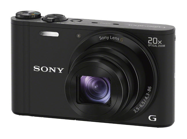 sony unveils new cyber shot point and shoot cameras  dsc wx black right jpg