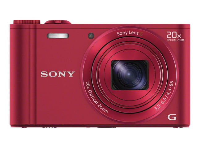 sony unveils new cyber shot point and shoot cameras  dsc wx red front jpg