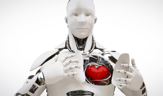 Robot revealing heart: Human moral compass