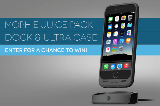 dt giveaway mophie juice pack ultra dock iphone  case