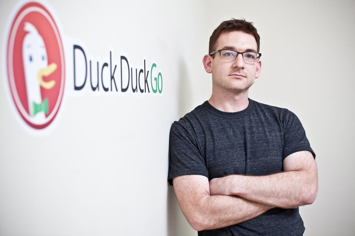 google rival duckduckgo growing fast as users prioritize privacy ceo with logo