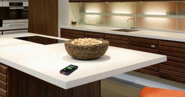 Dupont pma wireless charging kitchen surface 600x315 for Corian per square foot