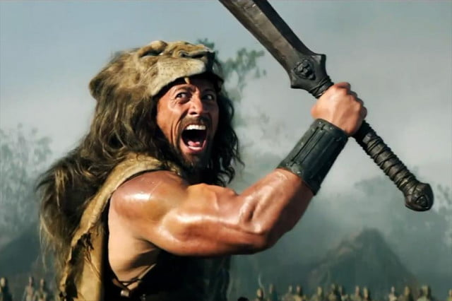 dwayne johnson claims hercules mantle first trailer film