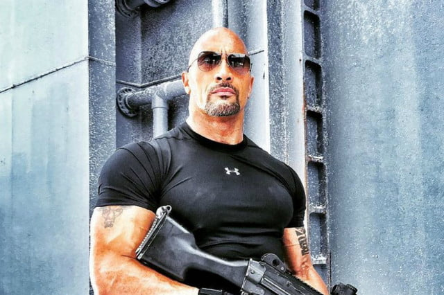 fast  dwayne johnson onset photos iceman