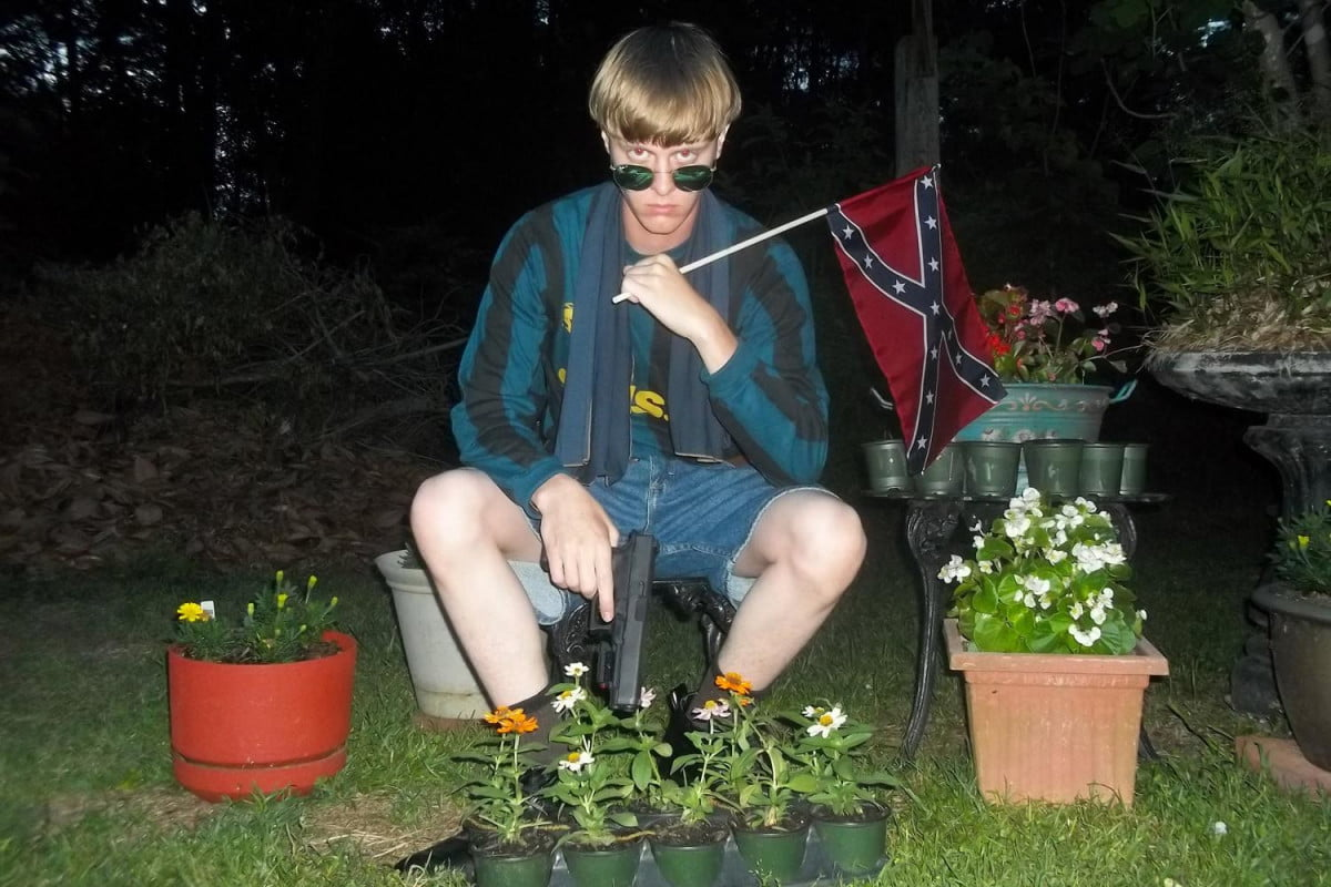 charleston shooters manifesto photos found via whois search dylann roof shooter confederate flag photo