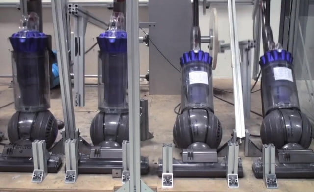 a look behind the scenes at how dyson beat crap out of vacuums vacuum tests