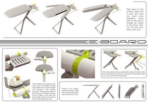 E-Board ironing board concept plan