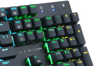 E-Element Mechanical Keyboard with RGB Multicolor Backlit closeup