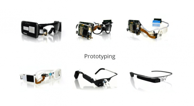 Early Google Glass prototypes