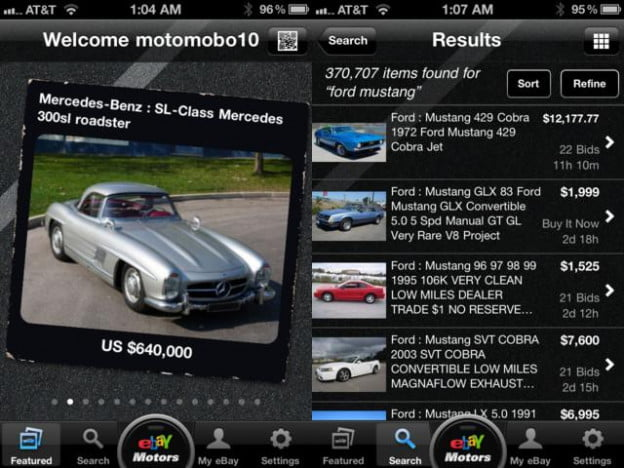 ebay motors iphone app car sales