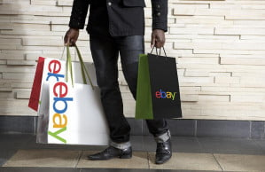 eBay shopping bags new logo