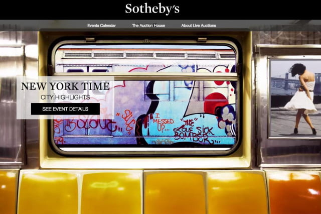 ebay users start bidding during first live auction from sothebys