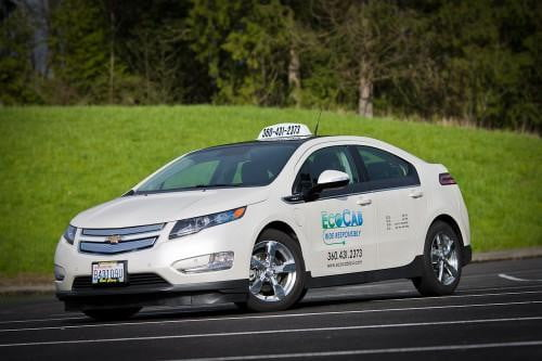ecocab bringing tesla model s taxis to portland chevy volt