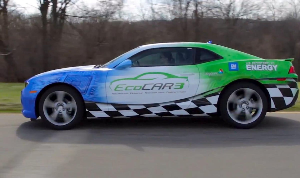 green car competition camaro yep going awesome ecocar