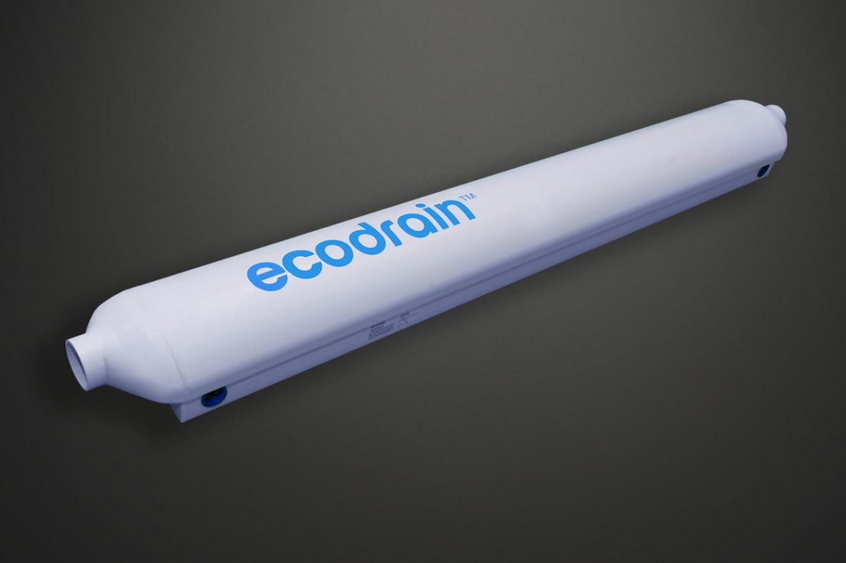 ecodrain recycles wasted heat used hot water