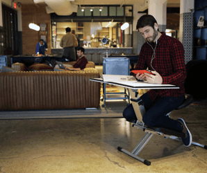 The Edge Desk is the pop-up workstation space-starved workers have been hungry for