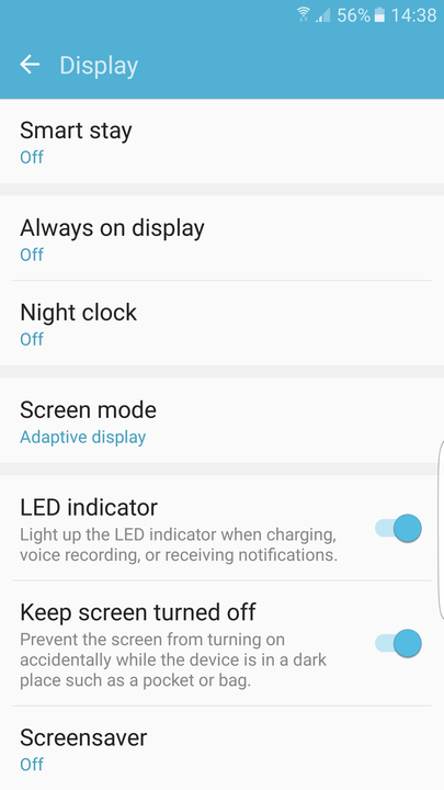 galaxy s  edge tips and tricks display settings