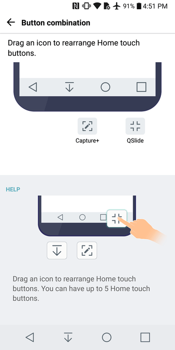 lg g  tips and tricks edit buttons
