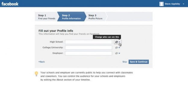 education privacy feature on facebook