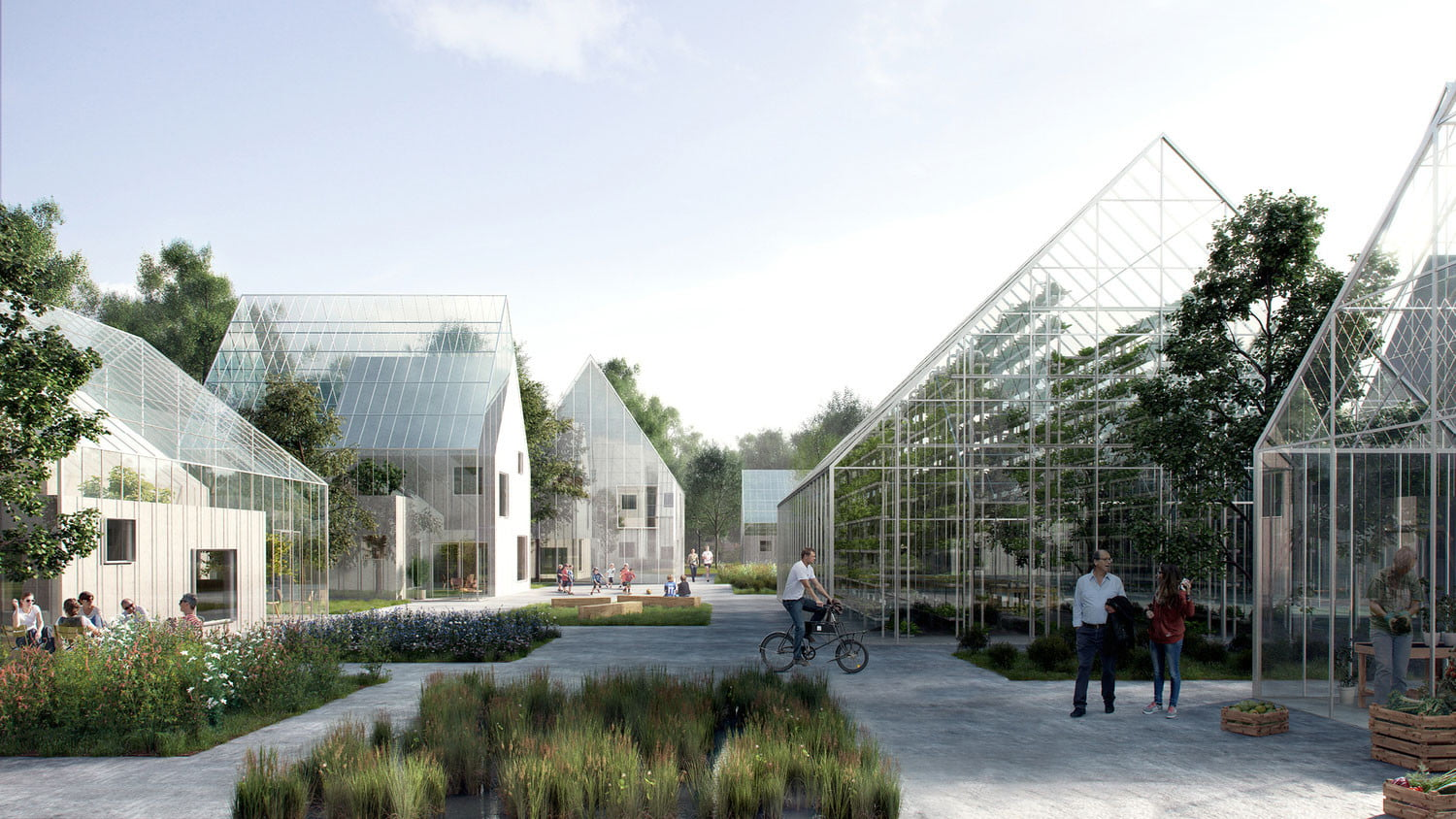 Danish designed regen villages produces own food energy for Architecture firms in netherlands