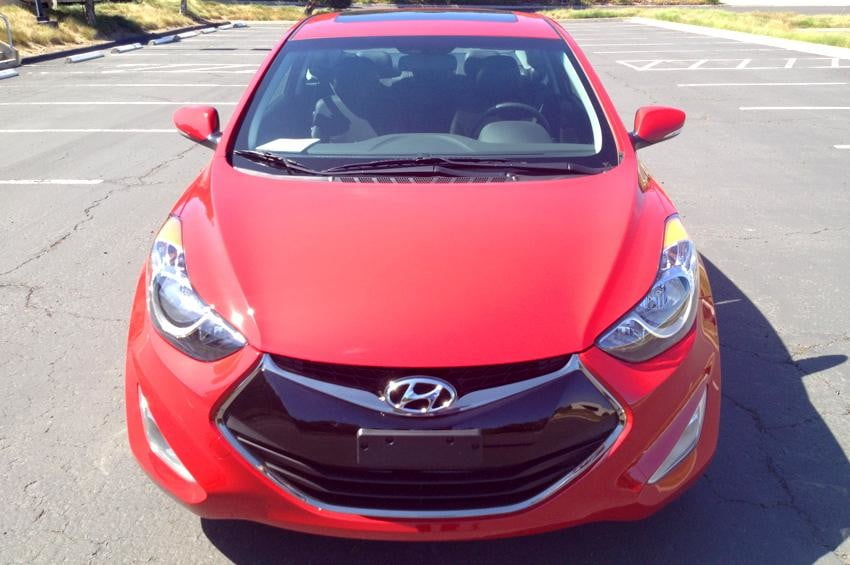 Elantra GT coupe front top red