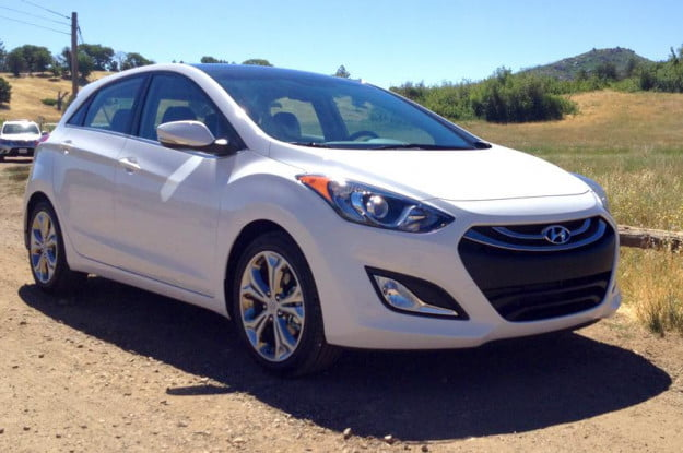 Elantra GT coupe right side front white
