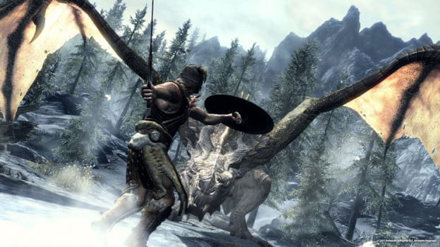 Elder-Scrolls-Skyrim-DragonFight