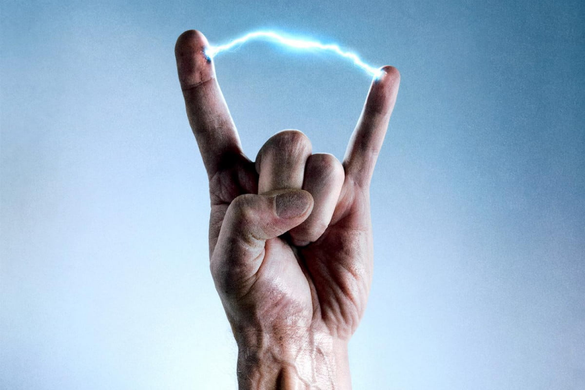 Electricity-Hand-Wallpaper