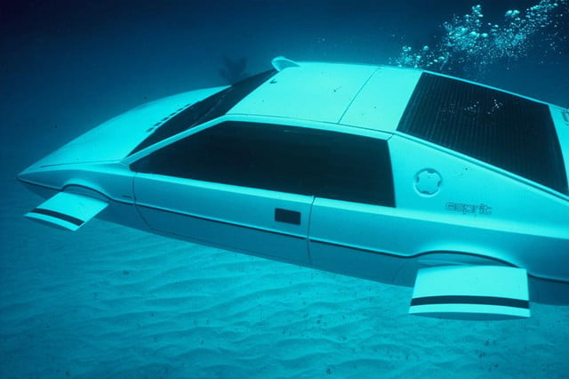 elon musk buys  submarine car lotus side