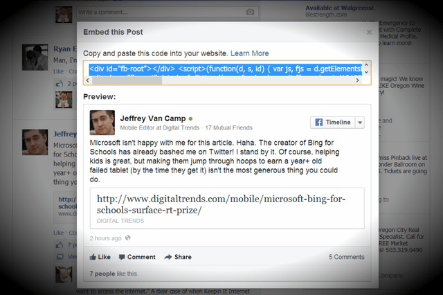you can now embed facebook posts and heres what it looks like this post