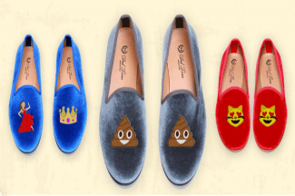 Emoji slippers. Let the fact that these exist sink in for a bit. Image via Moda Operandi.