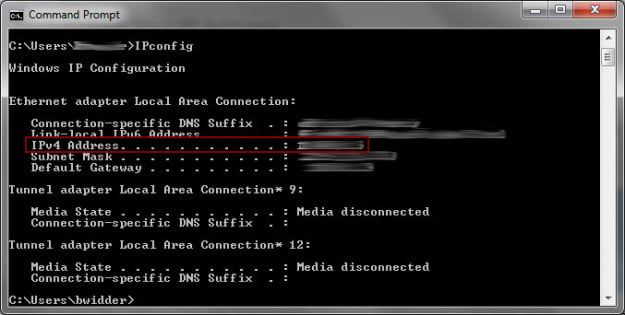 IP Address Finder: Command
