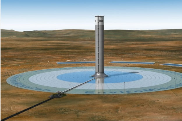 solar tower via gizmag