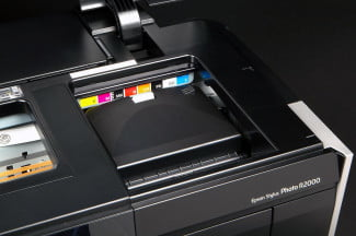Epson R2000 ink cartridge bay